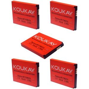 Koukay 5X Akku für AVM Fritz!Fon MT-F M2 C4 C5 312BAT016 312BAT006 FritzFon DECT MTF mit 750mAh