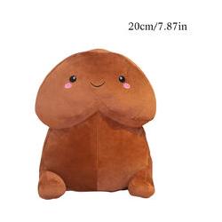Doux et confortable oreiller en peluche poupée jouets cadeaux Bureau à domicile Brun j | J 20 cm