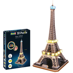 Revell 3D-Puzzle Eiffelturm, LED-Edition braun Kinder 3D Puzzle Gesellschaftsspiele