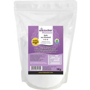 Wiezucker Zuckerersatz Premium, 100 Prozent Xylit, Birkenzucker aus Finnland, 1kg