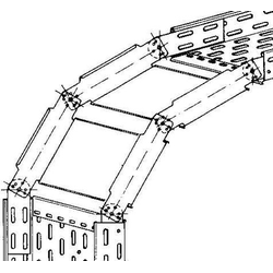 Niedax Verstellbarer Bogen RGS 85.400 F