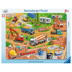 Ravensburger Rahmenpuzzle Arbeit Auf Der Baustelle - Rahmenpuzzle, 11 Puzzleteile