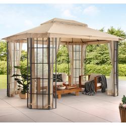 KONIFERA Pavillon Borkum, mit 4 Seitenteilen, (Set), BxT: 300x360 cm