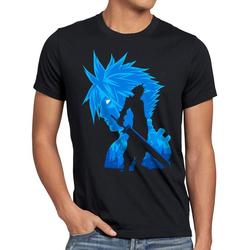 style3 Print-Shirt Herren T-Shirt Soldier VII chocobo sephiroth L