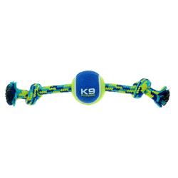 Zeus K9 Seil mit Knoten + Tennisball, Maße: 23 cm