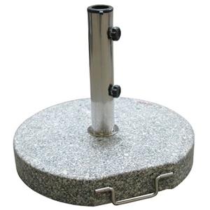Sonnenschirmständer / Schirmständer rund 45cm Granit 30 kg Rollen