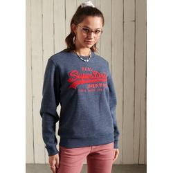 Superdry Sweater VL CHENILLE CREW mit 3D Chenille Print blau M