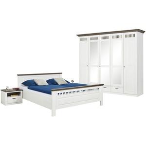 € Basispreis* Woodford Schlafzimmer, 4-teilig  Monza ¦ weiß ¦ Maße (cm): B: 262 H: 221 T: 63