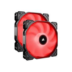 Corsair Gehäuselüfter AF140 LED-Lüfter, 2er Pack – rot