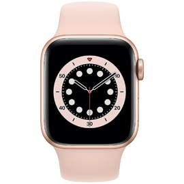 Apple Watch Series 6 GPS + Cellular 40 mm Aluminiumgehäuse gold, Sportarmband sandrosa