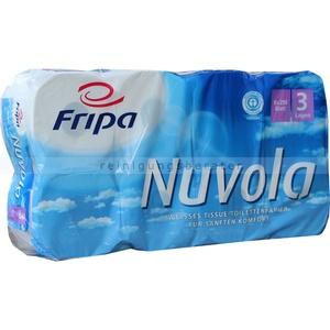 Toilettenpapier Fripa Tissue Nuvola hochweiß 3-lagig 8er 8 Rollen/Paket x 250 Blatt a 12cm, 3-lagig,Plus3