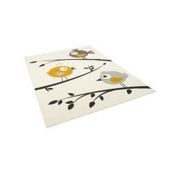 Kinderteppich Kinderteppich Trendline Vögel Creme Gelb, Pergamon, Höhe 8 mm 80 cm x 150 cm x 8 mm