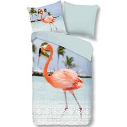 Wendebettwäsche Goodlife, good morning, mit Flamingo 1 St. x 155 cm x 220 cm