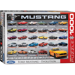 empireposter Puzzle Ford Mustang Evolution - 1000 Teile Puzzle Format 68x48 cm., 1000 Puzzleteile
