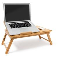 Relaxdays Laptoptisch Bambus Betttablett mit Leseklappe
