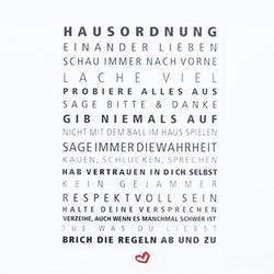 Servietten HAUSORDNUNG Design@Home