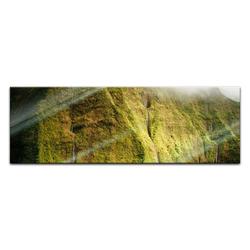Bilderdepot24 Glasbild, Glasbild - Mt. Waialeale Wasserfall Kauai 90 cm x 30 cm