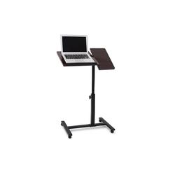 relaxdays Laptoptisch Laptoptisch höhenverstellbar Holz schwarz