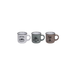 HTI-Living Becher Kaffee Becher 3er Set weiß