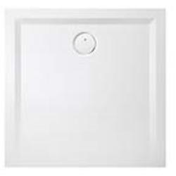 Hoesch Muna Mineralguss-Duschwanne 4160xA010 80x80x3cm, weiß, Material Solique