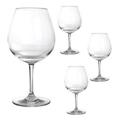 GIMEX Rotweinglas Campinggeschirr Mehrwegglas Rotweinglas aus Kunststoff 250ml (4-tlg)