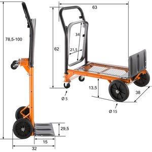 Universal Sackkarre bis 80kg - orange