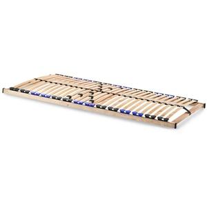 snoozo Lattenrost Lattenrahmen TwinFlex | 28 Federleisten | 5-facher Härteverstellung | zur Selbstmontage | geeignet für alle Matratzen | 100 x 200 cm