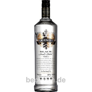 Smirnoff No.55 Black Label - Small Batch Vodka, 1,0 l
