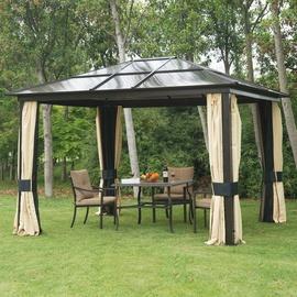 Outsunny Gartenpavillon 3,00 x 3,60 m PC inkl. Seitenteile