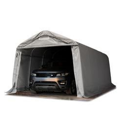 Toolport Zeltgarage 3,3x6,0m PVC 720 g/m² grau wasserdicht Garagenzelt