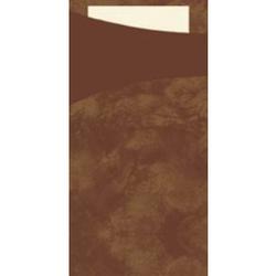 DUNI Sacchetto Serviettentaschen, Tissue, Praktische Bestecktasche, 1 Karton = 5 x 100 Stück, café