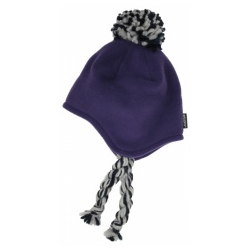 Stöhr Knitwear Fleece Inka Kindermütze lila - Gr��e 50/52cm