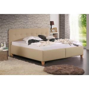 Maintal Polsterbett Figaro, mit oder ohne Matratze in 2 Ausführungen, Härtegrad 2 oder 3 beige 113 cm x 207 cm x 102 cm