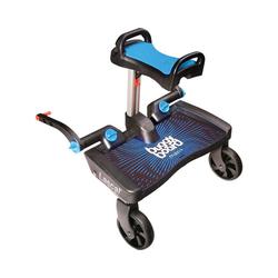 Lascal Kinderwagenaufsatz BuggyBoard Maxi+ schwarz mit Sitz rot blau