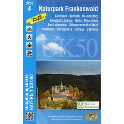 Naturpark Frankenwald 1 : 50 000 (UK50-4)