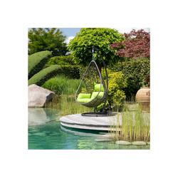 Greemotion Hängestuhl Kuba, Stahl/Polyethylen, inkl. Sitz- und Rückenkissen