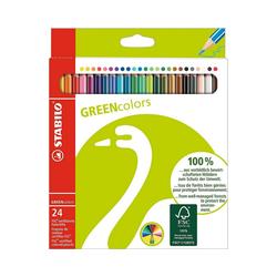 STABILO Buntstift GREENcolors Buntstifte, 24 Farben