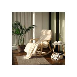 SONGMICS Sessel LYY41G LYY41M, Schwingsessel, Relaxstuhl, beige weiß