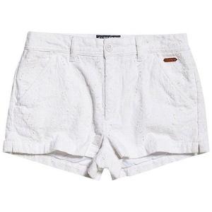 Superdry Shorts Superdry Shorts Damen BRODERIE CHINO SHORT Optic White weiß S