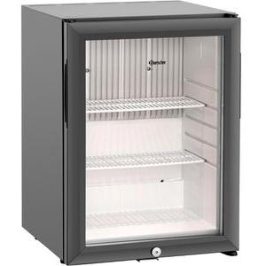 Bartscher Getränkekühlschrank 700119, 34 Liter, Minibar, Glastür, schwarz