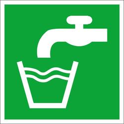 Fluchtwegschild Folie Trinkwasser (B x H) 100mm x 100mm ISO 7010 1St.