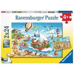 Urlaub am Meer - Puzzle mit 24 Teilen