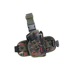 Oberschenkelholster aus Cordura-Gewebe, Farbe : deutsches Flecktarn