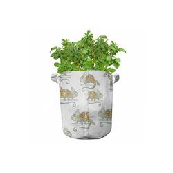 Abakuhaus Pflanzkübel hochleistungsfähig Stofftöpfe mit Griffen für Pflanzen, Bunt Wilde Chamäleon-Eidechse 28 cm x 28 cm
