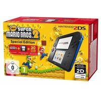 Nintendo 2DS schwarz / blau + New Super Mario Bros. 2 - Special Edition (Bundle)