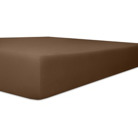 Kneer Spannbetttuch EASY-STRETCH Q25, braun 120 cm x cm