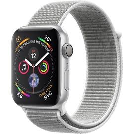 Apple Watch Series 4 (GPS) 44mm Aluminiumgehäuse silber mit Loop Sportarmband muschel