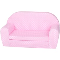 KNORRTOYS 68447 Kindersofa Pink white dots