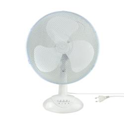 Ventilator Tisch Boden Stand-Ventilator Ø 34cm Weiß