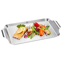GEFU Grillpfanne BBQ, Edelstahl (1-tlg) 25 cm x 43 cm x 3 cm